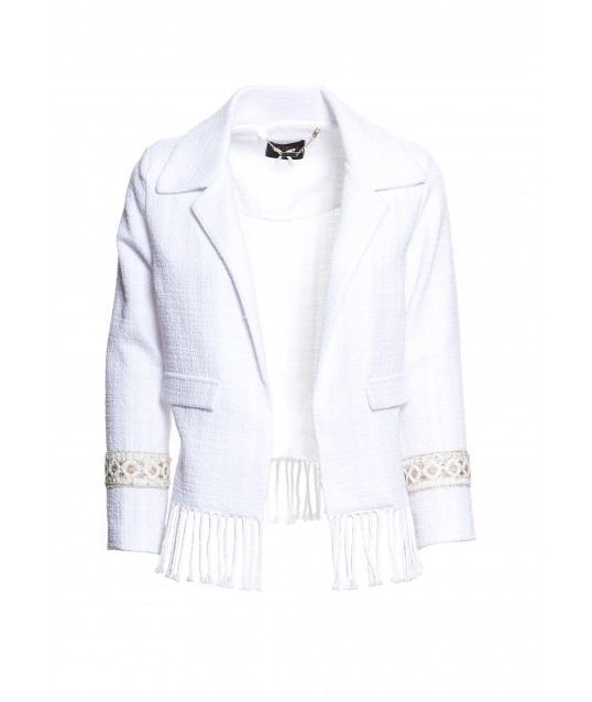 Jacket With Fracomina Embroidery