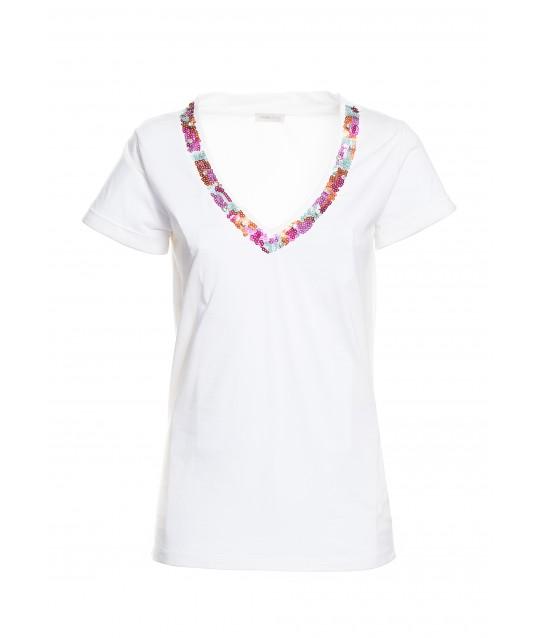Fracomina T-shirt With Fantasy Collar