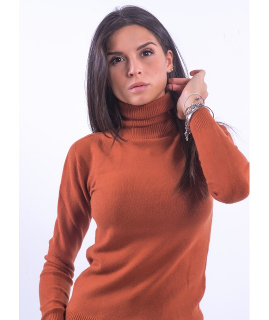 Pull Solid Color High Neck Fracomina