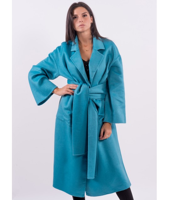 Long Coat Solid Color Fracomina