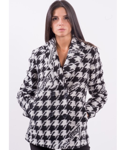 Coat With Pattern Fracomina
