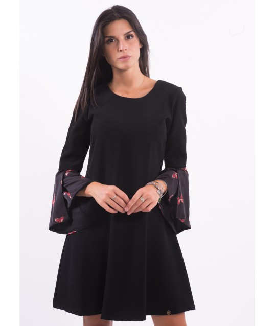 Dress With Fantasy Sleeve Fracomina