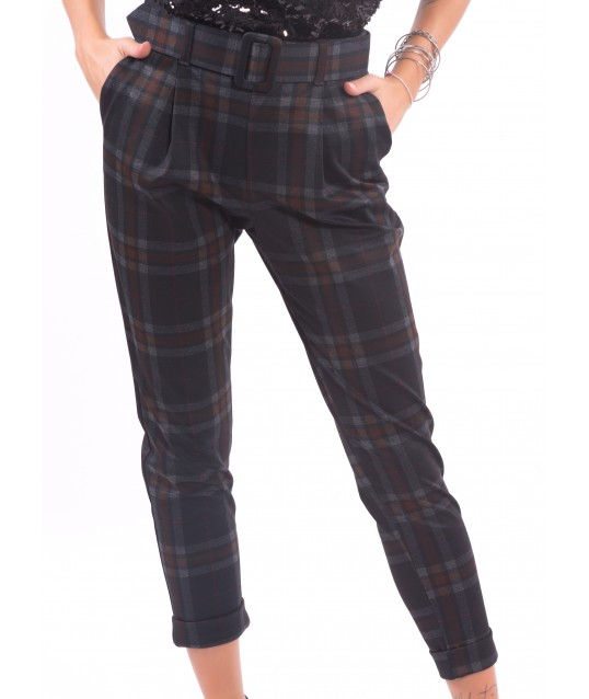 Trousers With Check Pattern Fracomina