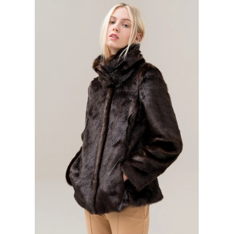 Eco Fur Jacket Regular Fracomina