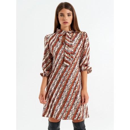 Renaissance Retro A-Line Dress