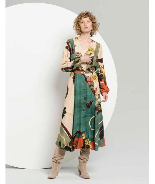 Long Dress With Fantasy Fracomina