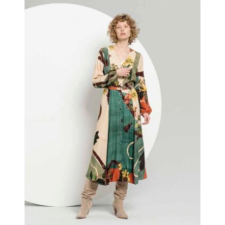Robe longue avec fantaisie Fracomina