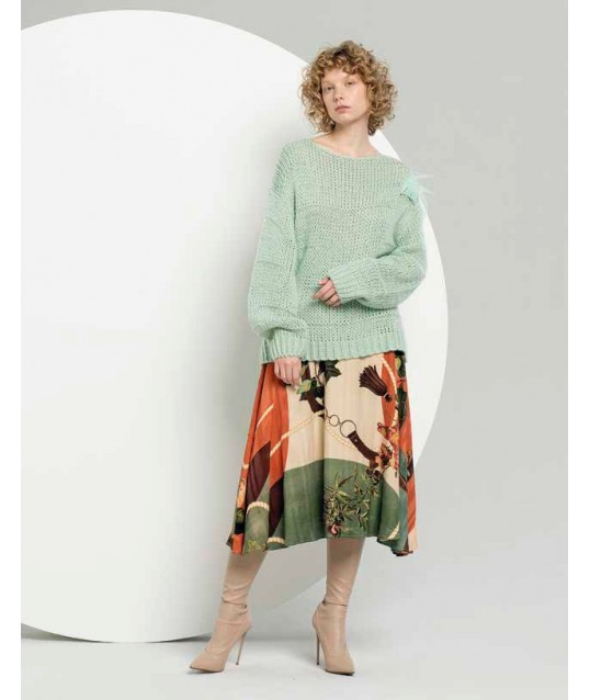 Skirt With Pattern Fracomina