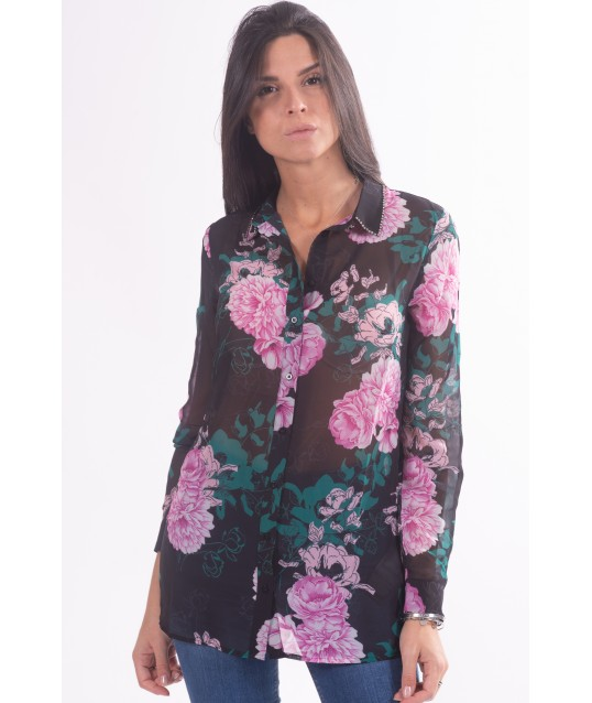Shirt With Floral Pattern Guess