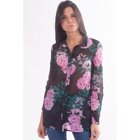 Camicia Con Fantasia Floreale Guess