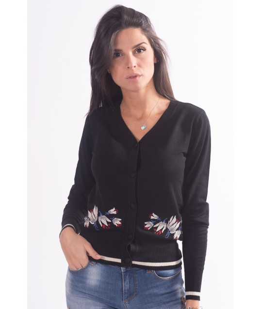 Cardigan With Floral Pattern Fracomina