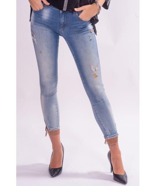 Jeans avec applications Fracomina