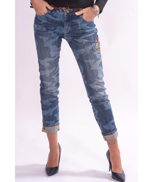 Jeans Con Fantasia Fracomina