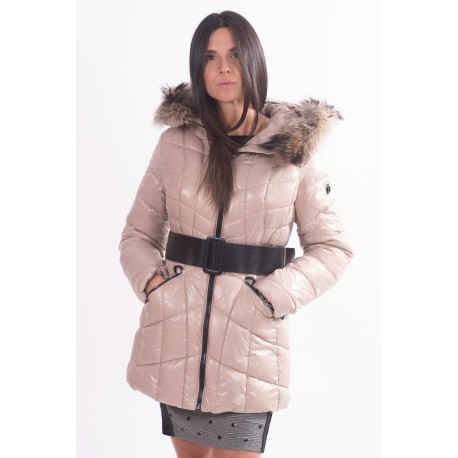 Fracomina Solid Color Padded Jacket