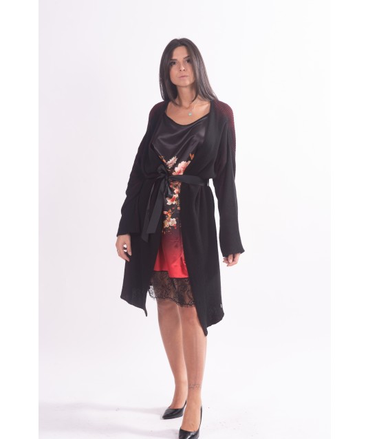 Knitted Dress With Print In Vicolo Trivelli