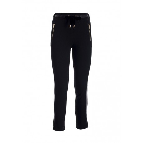 Fracomina Leather Trousers