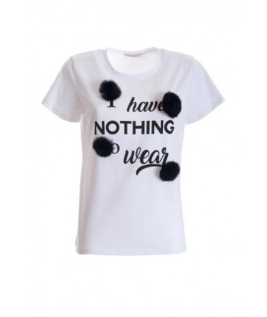 T-shirt avec applications Fracomina