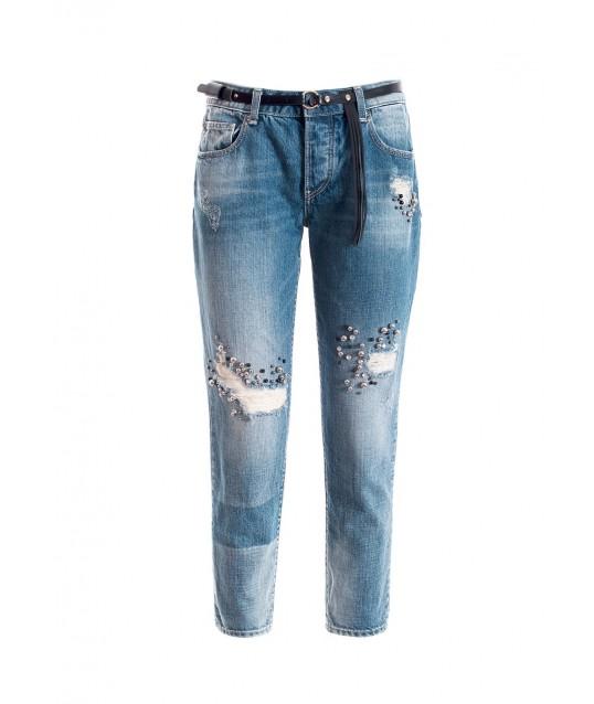 Jeans Boyfriend In Denim Fracomina