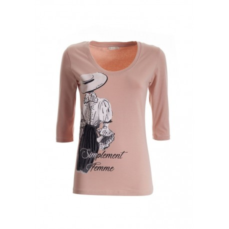 T-shirt à imprimé Fracomina
