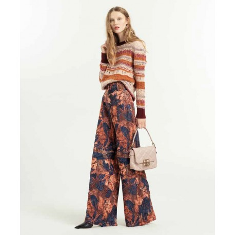 Palazzo Trousers With Fracomina Pattern