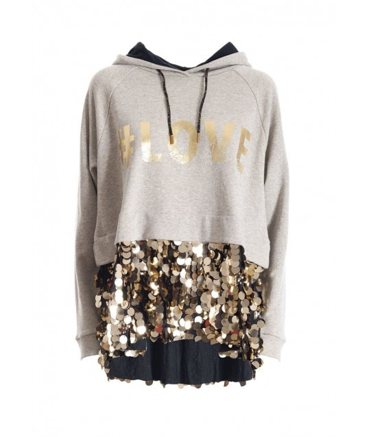 Sweatshirt With Sequins Applications Fracomina