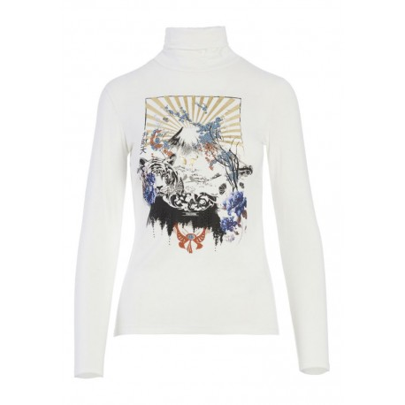 Sweater With Fracomina Print