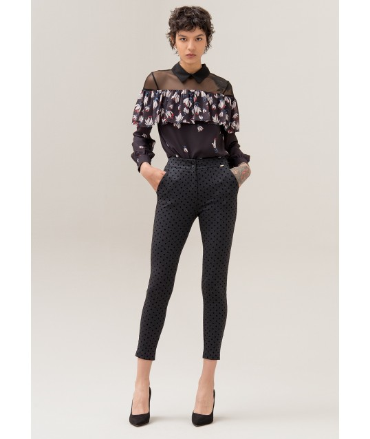 Trousers With Polka Dot Pattern Fracomina