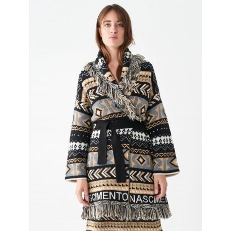 Rinascimento Jacquard Wool Cardigan