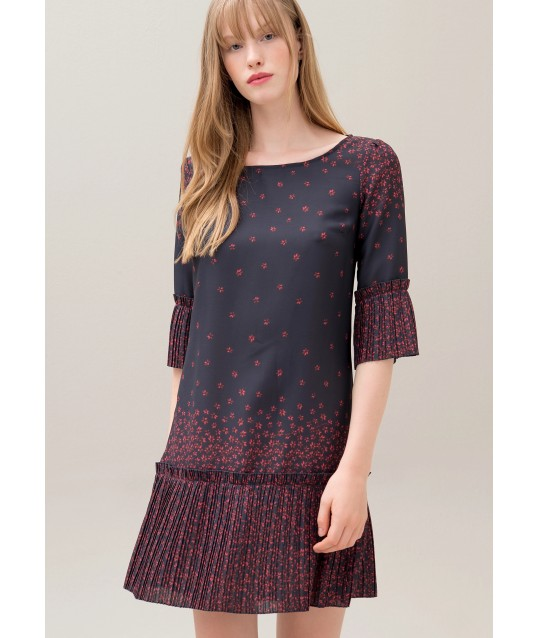 Dress With Floral Pattern Fracomina