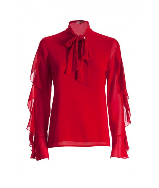 Blouse With Volant Fracomina