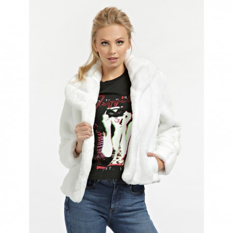 Jacket With Fur Guess