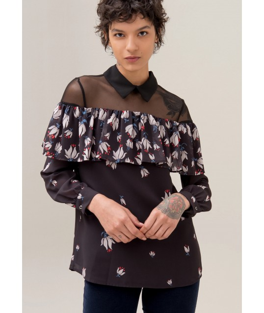 Blouse with Floral Pattern Fracomina