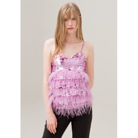 Top With Sequins Fracomina