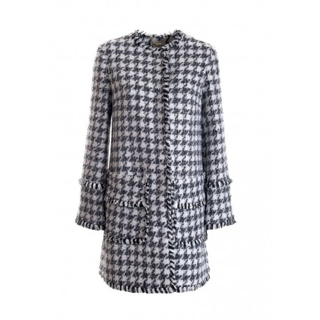 Coat With Pattern Fracomina