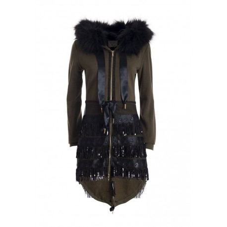 Parka With Sequins Fracomina