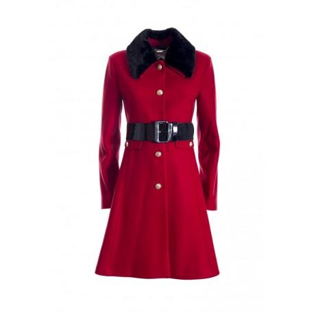 Manteau avec col en fourrure Fracomina