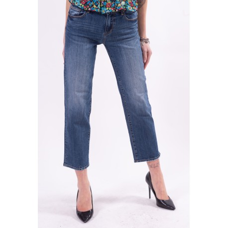 Fracomina Jeans With Fringed Hem