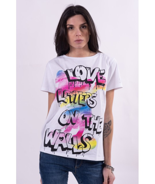 T-Shirt Con Stampa Disney Fracomina