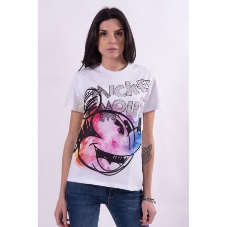 T-Shirt Mickey Mouse Stampa Disney Fracomina