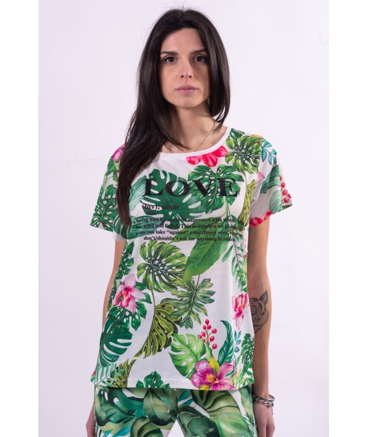 Sweater With Floral Pattern Fracomina