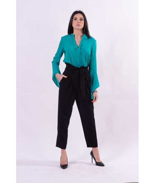 Pantalon bonbon de couleur unie Fracomina