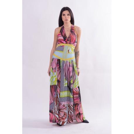 Long Multicolor Dress Fracomina