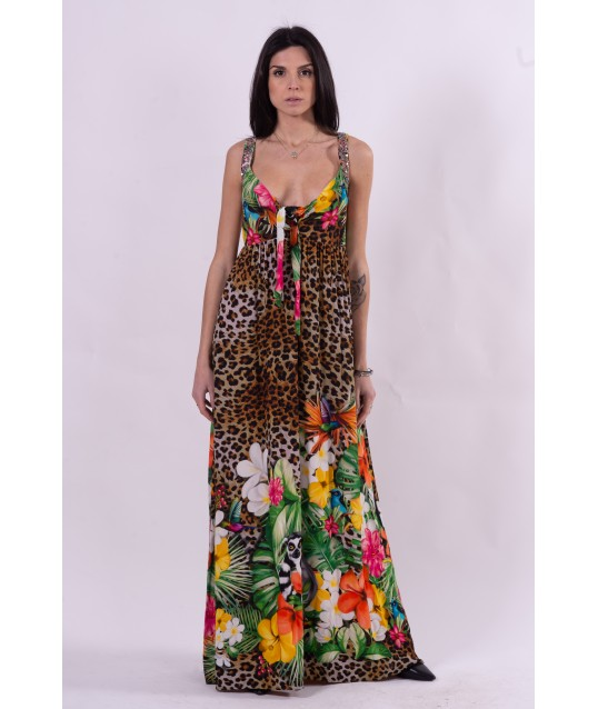 Dress With Animalier Pattern Fracomina