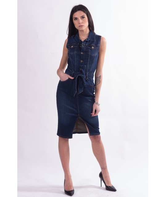 Sheath Dress In Jeans Fracomina
