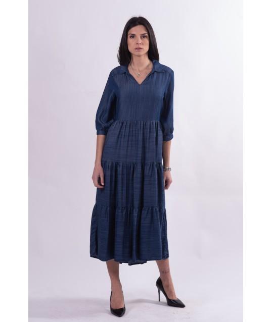 Robe longue en jean Fracomina
