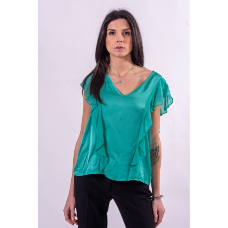 Blouse With Rouches Fracomina