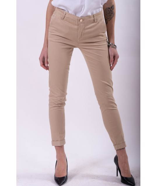 Fracomina Solid Color Trousers