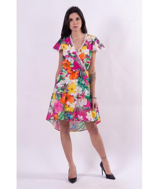 Robe fantaisie florale multicolore Fracomina