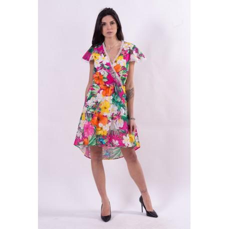 Multicolor Floral Fantasy Dress Fracomina