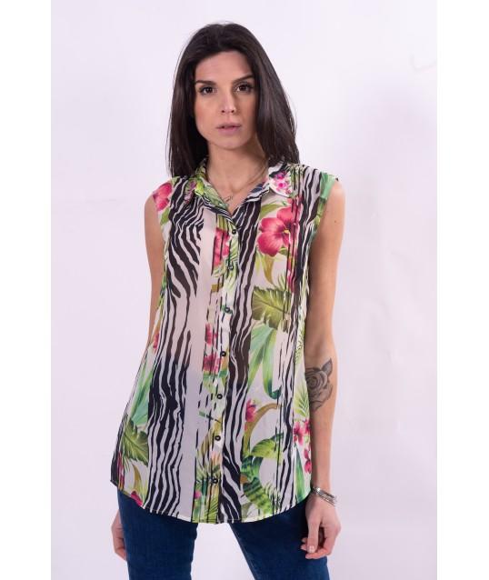 Chemise à motif floral Guess